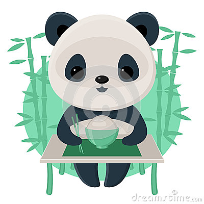 Free Panda Eating Rice Stock Image - 48883051