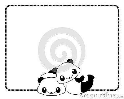 Panda frame / border