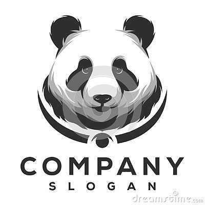Panda logo design ready to use Stock Photo