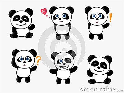 dessin anim mignon de panda dans la nature images libres de droits image 19249799