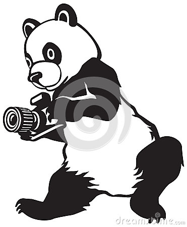 Panda, the press photographer