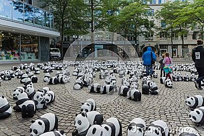 Panda s in Kiel Redactionele Foto