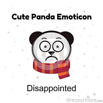 Free Panda Sad Emoji. Chinese Bear Sadness Or Disappointed Emotion Isolated Royalty Free Stock Photography - 88828757