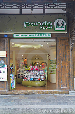 Panda store Editorial Stock Photo
