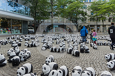 Pandor i Kiel Redaktionell Bild