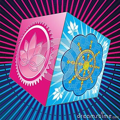 Pandora s box with lotus and chakra