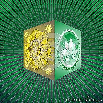 Free Pandora S Box With Lotus And Chakra Stock Photography - 17105862