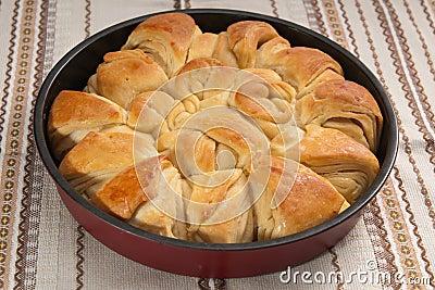 Pane bulgaro tradizionale di Pita di natale