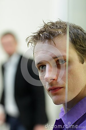 Free Pane,man S Face Portrait, Another Man In Background Stock Photo - 29161020