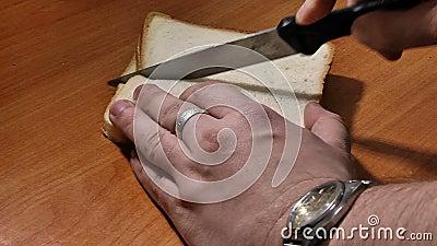 Pane tagliato per pane tostato archivi video