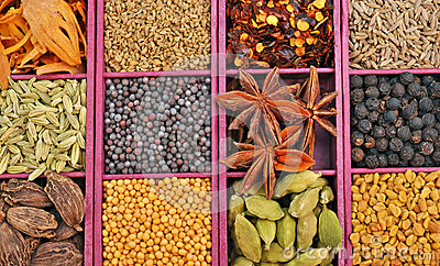 Panel of spices