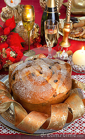 Panettone Traditional Italian Christmas Cake Royalty Free #2: panettone traditional italian christmas cake decorations