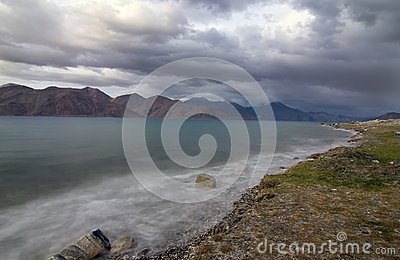 Pangong Lake in Evening