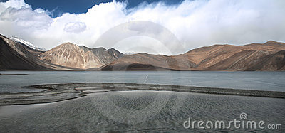 Pangong Lake in the Himalayas