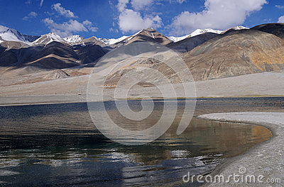 Pangong Tso (lake) shoreline