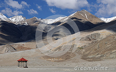 Pangong Tso mountains