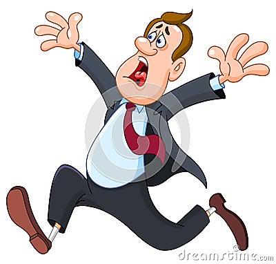 Free Panicked Businessman Royalty Free Stock Image - 19321466
