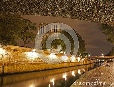 Paniusi notre Paris brzeg rzeki