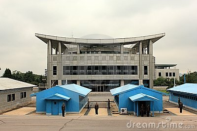 Panmunjom (DMZ) as seen from North Korea Editorial Photo
