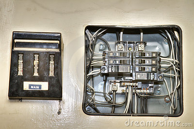 Panneau de commande lectrique de vieille maison photo stock image 20396690 - Controle electrique maison ...