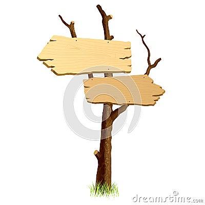 Panneau indicateur bois