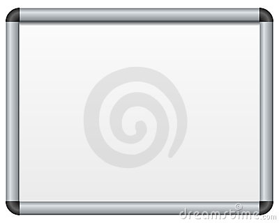 Panneau magnétique blanc