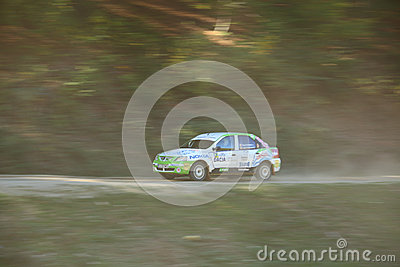 Panning of a rally car Editorial Stock Photo