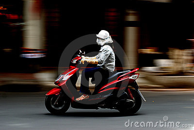 Panning shot of Motorcycle