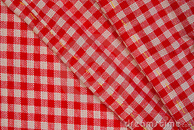Panno rosso dettagliato di picnic, priorità bassa per il disegno