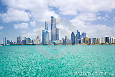 Panorama of Abu Dhabi, UAE