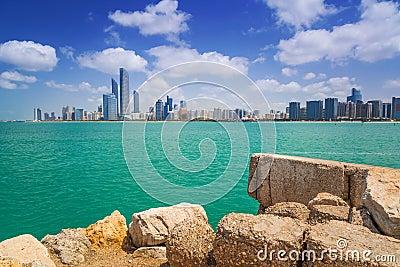 Panorama of Abu Dhabi, UAE