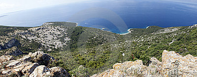 Panorama of Adriatic sea