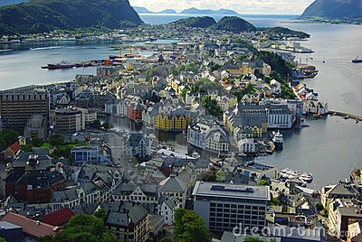Panorama of Alesund, Norway