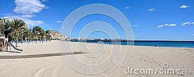 Panorama of Alicante beach