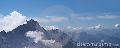 Panorama of Alpine mountins