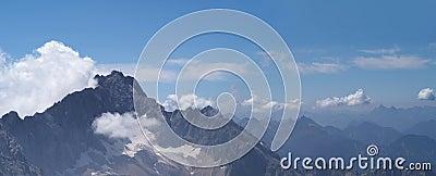 Panorama of Alpine mountins