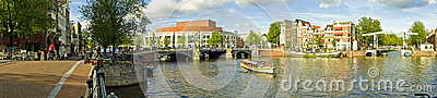 Panorama from Amsterdam in the Netherl