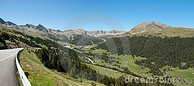 Panorama of Andorra Pyrenees