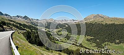 Panorama of Andorra Pyrenees