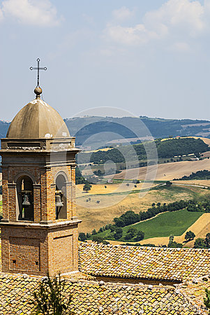 Panorama From Arcevia Royalty Free Stock Photos - Image: 28703778