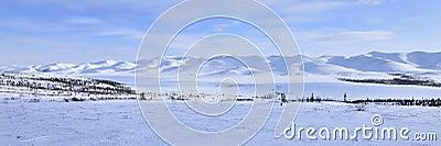 Panorama Arctic landscape