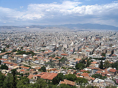 Panorama athens, greece