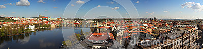 Panorama av Prague, tjeckisk republik