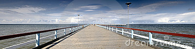 Panorama Baltic sea and bridge