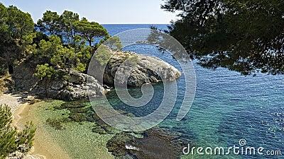 The panorama of the beautiful coast mediterranean
