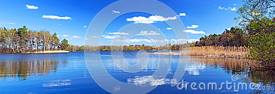 Panorama of beautiful lake