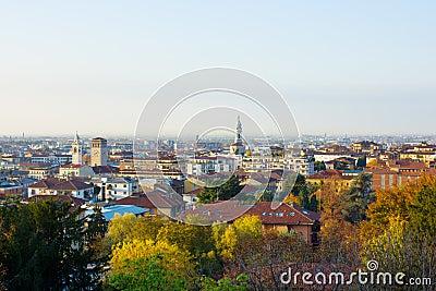 Panorama of Bergamo, Italy