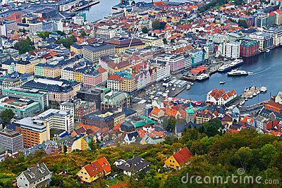 Panorama of Bergen, Norway
