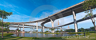 Panorama of Bhumibol Bridge