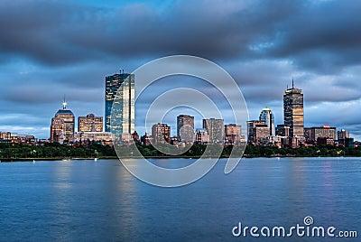 Panorama of a Boston Sunset